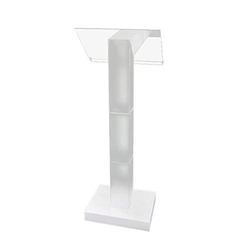 KCCCC Simple Lecterns Desk Pulpit Easy Assebmly Required Clear Podium Lecturn Transparent Church Office Lecterns (Color : Clear, Size : One size)
