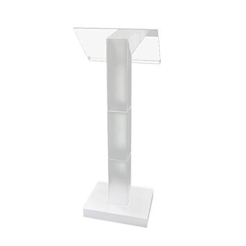 TnSok Stehendes Podium Klare Podium-Lecturn-transparente Kirchenkirpit Easy Assebmly erforderlich (Color : Clear, Size : One Size)