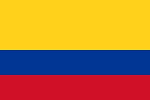 INERRA grote 150 cm x 90 cm vlaggen uit Zuid-Amerika rij met 2 metalen oogjes 5 ft x 3 ft Colombia