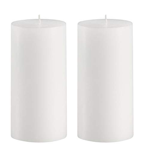 Citronella Scented Pillar Candles Set of 2 - Mosquito Repellent - 6 inch Tall 3 inch Thick 100 Hour Indoor Outdoor or Patio