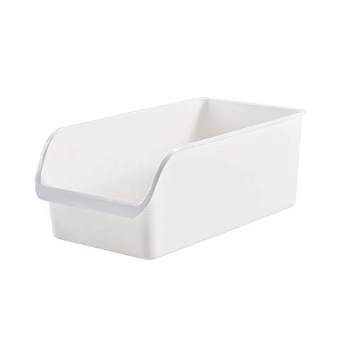 Kcakek Keuken Koelkast Storage Box Cabinet Storage Basket Dumpling opslag Rack Food Group afwerking box Handige Storage Van Voedsel duurzaam en veelzijdig keukengerief Box (Color : White)