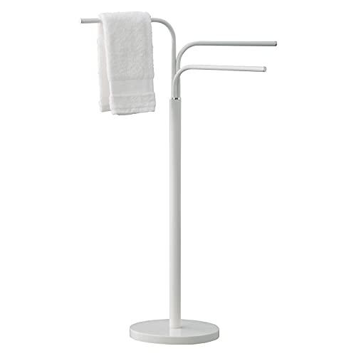Gedy 28310200000 Winny bagno bianco con braccia mobili, Misure e peso: 89X25X43,6 CM & 3,5 KG, Porta asciugamano realizzato in acciaio inox e Cromall, Design R&S, 2 anni di garanzia, Unica