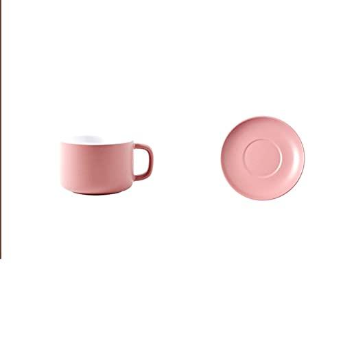 Juego de Tazas de Café de Cerámica Juego de té de Porcelana Europea para té de la Tarde Fiesta de Café Platillo Desayuno Leche Oficina en Casa