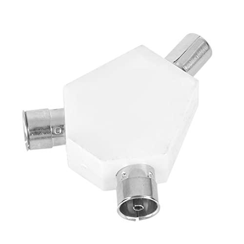 LJLSY Conector 1 PCS Alojamiento de plástico TV Adaptador Splitter Aerial Cable...