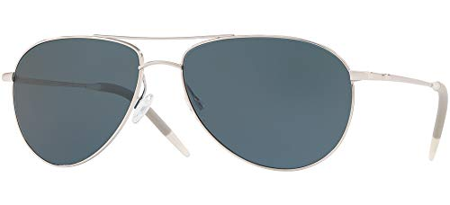 Oliver Peoples Benedict Silver/Blue Lens One Size