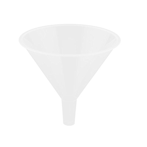 "Uxcell a12073000ux0890 150ml 5 31/32"" Mouth Dia Laboratory Clear White Plastic Filter Funnel"