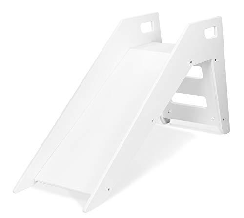Kinderrutsche Babyrutsche Holzrutsche Zimmerrutsche Indoor-Rutsche (Farbe: weiß)