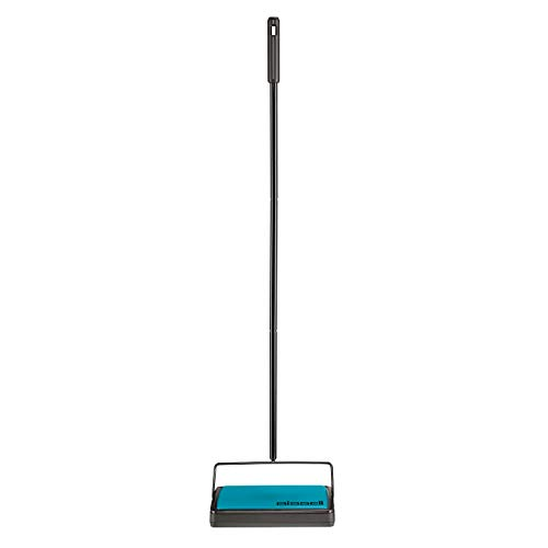 Bissell Easy Sweep Compact Carpet & Floor Sweeper, 2484A, Teal