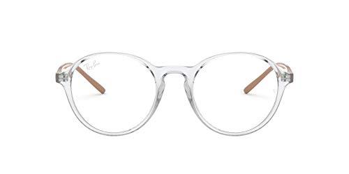 Ray-Ban RX7173 Gafas de lectura, Transparente, 49 Unisex Adulto
