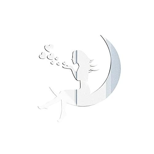 Etiqueta de la Pared del Espejo Etiqueta engomada del espejo del día de tarjeta del día de San Valentín 3D Acrílico Impermeable Papel autoadhesivo de papel para niños Decoración del hogar Decoración d
