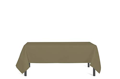Soleil d'Ocre Nappe antitache Rectangle 160x270 cm Alix Taupe, Polyester, Ecru