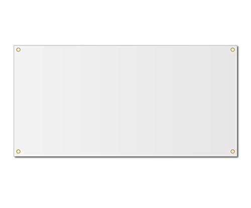 2'x3' Blank White Vinyl Banner - Grommets - 13oz
