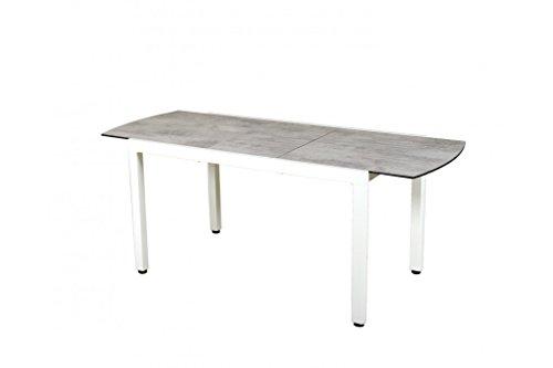 Les Garden's - Mesa extensible de aluminio Ticao blanco