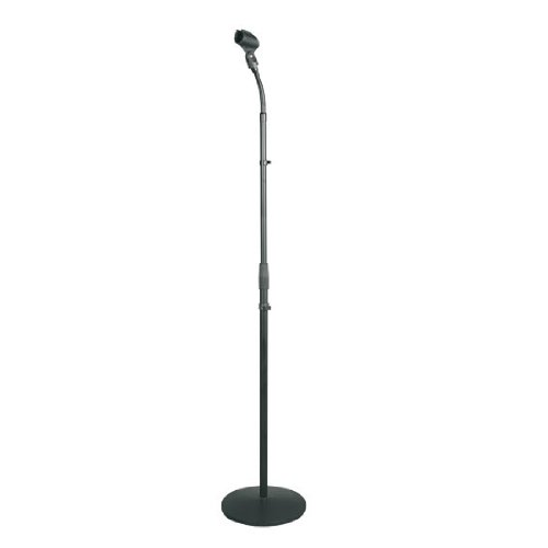 "Pyle Universal Microphone Stand - M-6 Mic Holder USA Standard Adapter and Height Adjustable from 31.5"" to 60"" Inch High w/   Pivotable Gooseneck Mount - Heavy Duty Clutch Tension Knob PMKS32"