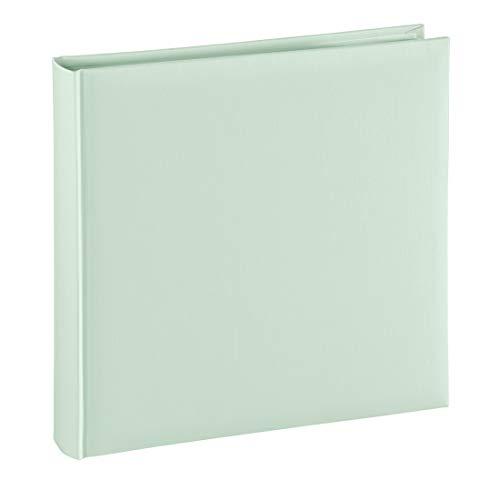 Hama Fotoalbum Jumbo 30x30 cm (Fotobuch mit 80 weißen Seiten, Album für 320 Fotos zum Selbstgestalten und Einkleben) grün pastell