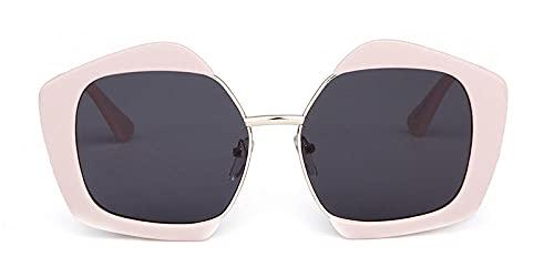 U/N Polygon Gafas de Sol Mujeres Hombres Gótico Vintage Retro Marco Lente Rosa Mujer Gafas de Sol-1