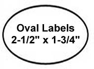 300 Label Outfitters Oval Gold Metallic Foil Laser Labels, 2-1/2 x 1-3/4 inches 15 Labels per Sheet Photo #2