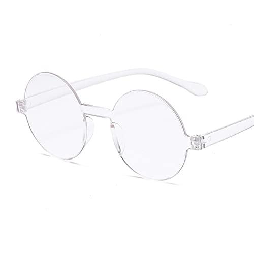 NJJX Gafas De Sol Redondas Rojas Pequeñas Vintage Para Mujer, Gafas De Sol Retro, Gafas De Sol Negras, Gafas De Color Caramelo Para Mujer, Transparentes