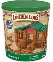 Lincoln Logs 100th Anniversary Tin Building Sets 111 pcs.