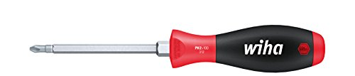 Wiha Schraubendreher SoftFinish® PhillipsmitSechskantklinge und Sechskantansatz (00766) PH3 x 150 mm ergonomischer Griff für kraftvolles Drehen, Allrounder für Industrie und Handwerk