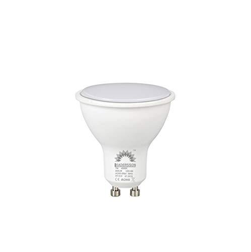Bombilla LED 7W Lámpara GU10, 840lm, Bajo consumo, Angulo de haz de 120°, IP20, 180-265V, no regulable - [Clase de eficiencia energética A+] (6000K LUZ FRIA, PACK 5)