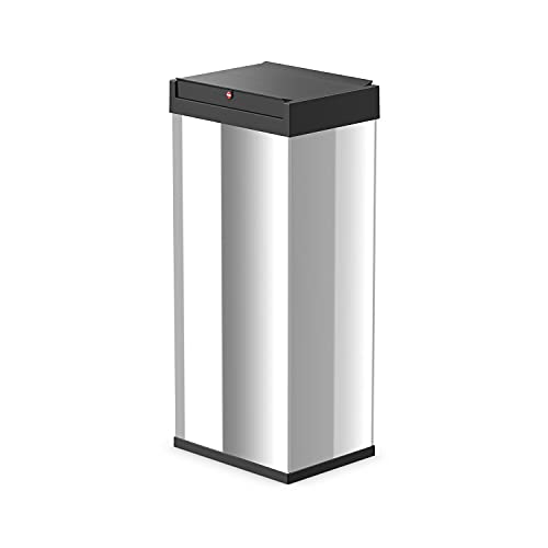 Hailo Big-Box Swing XL Mülleimer | 1 x 52 Liter | selbstschließender Schwingdeckel | Edelstahl | Müllbeutel-Klemmrahmen | Mülleimer Küche rechteckig | Abfalleimer made in Germany | Edelstahl