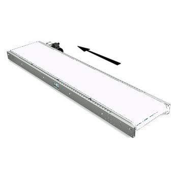 Cinta de transporte y de proceso de PVC, grosor 2,5 mm, 2 telas (cantidad: metros), color blanco, 1000