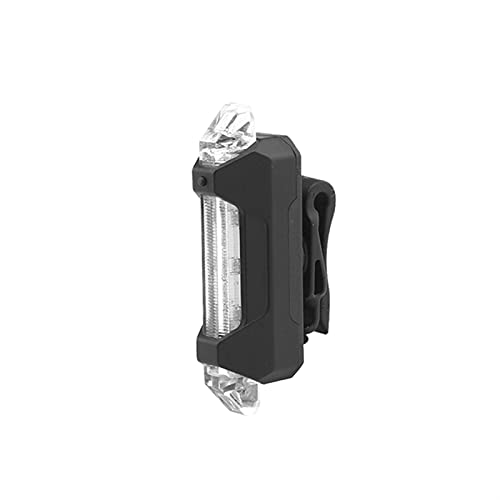 TIYKI For M365 LED LED LED Linterna Linterna Lámpara de Barra de Noche Advertencia MTB Accesorios de luz de Bicicleta Cuatro Modos. Apto para Bicicletas (Color : Black Transparent)