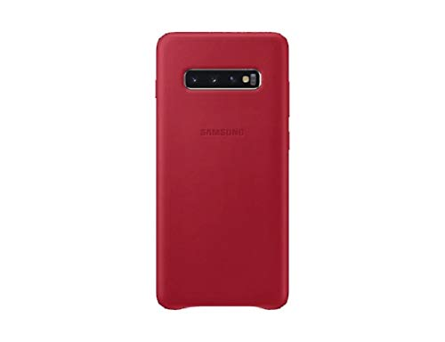 Leather Cover für Galaxy S10+ Rot