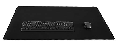 Silent Monsters Mauspad Größe XXXL (900 x 600 mm) Mousepad Groß Design: Schwarz - Vernähter Rand geeignet für Office und Gaming Maus sowie Tastatur