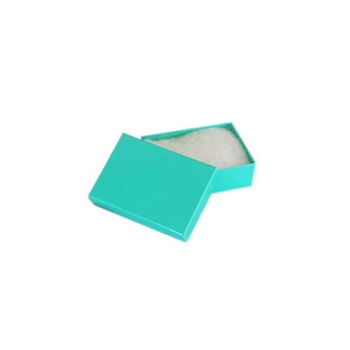 """TheDisplayGuys 100-Pack #11 Cotton Filled Cardboard Paper Jewelry Box Gift Case - Teal Green (2 1/8"""" x 1 6/8"""" x 3/4"""") California"""