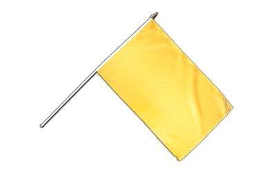 Stockflagge / Stockfahne Einfarbig Gelb + gratis Sticker, Flaggenfritze®