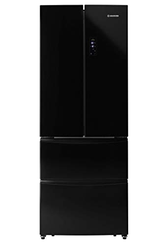 Hoover HMN7182BK Freestanding American Fridge Freezer, Frost Free, 404L Total Capacity, 70.4cm wide,...