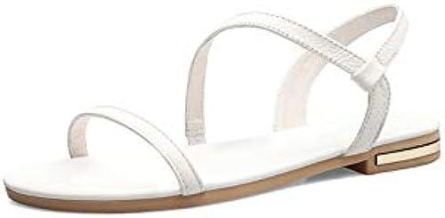 HommesGLTX Talon Aiguille Talons Hauts Sandales 2019 Nouvelle Arrivée Chaussures en Cuir Souple Femmes Sandales Slip on Summer Chaussures Simple Confortable Plage Chaussures Femme Chaussures Plate