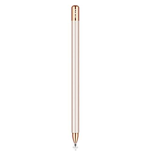 MEKO 2 in 1 Eingabestift Disc Touch Stift universal Touch Pen Stylus 100% kompatibel mit Allen Tablets Touchscreen iPhone iPad Samsung Surface Huawei usw, magnetische Kappe, Champagner