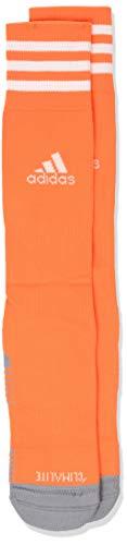 adidas Calcetines de fútbol unisex Copa Zone Cushion IV (1 par), naranja/blanco, 5-8.5