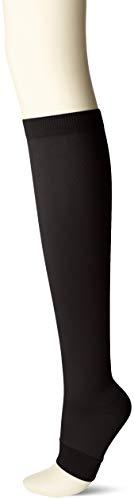 [ナイガイ] レディス・段階圧力設計・足口 20hPa 足首 30hPa・ハイパワー着圧オープントゥ(トゥーレス) ハイソックス レディース 3070304 ブラック 日本 23~25cm (日本サイズM-L相当)