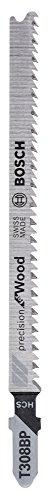 Bosch Professional Stichsägeblatt T 308 BP, Precision für Wood, 5-er Pack, 2608667400