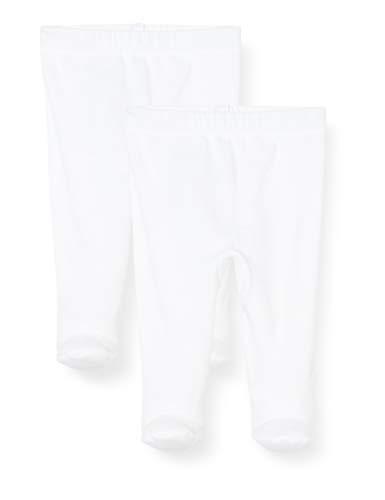 Petit Bateau 5421600 Pantaloni, Bianco (Ecume 01e), 0-3 mesi (Taglia Produttore: NAISSANCE) Unisex-Bimbi