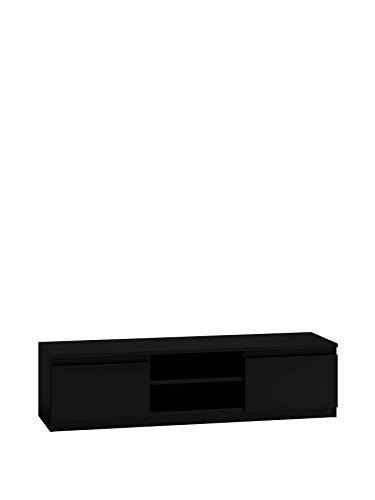 NOXEN RTV Tisch Malwa 140 schwarz, TV-Ständer weiß Wohnzimmermöbel, Möbel Zuhause Wohnzimmer Flur, Nachttisch, TV-Einheiten für Wohnzimmer