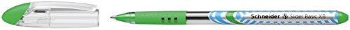 Schneider Slider Basic XB Ballpoint Pen, Light Green, Box of 10 Pens (151211) Photo #4