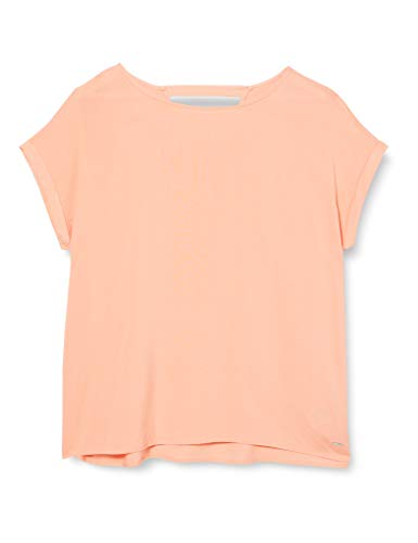 TOM TAILOR Denim Damen Rückendetail Bluse, 23680-papaya orange, M