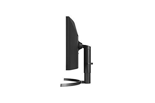 LG 35WN73A 88,9 cm (35 Zoll) UltraWide Curved 21:9 WQHD IPS Monitor (HDR10, 100 Hz, 5ms, AMD FreeSync, USB-C, 3440 x 1440, verstellbar), schwarz