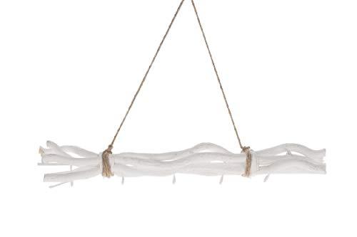 Schreiber Deko Dekozweig mit 5 Metallhaken/Länge:50 cm/weiß