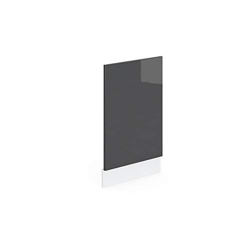 Vicco Küchenschrank R-Line Hängeschrank Unterschrank Küchenzeile Küchenunterschrank Arbeitsplatte, Möbel verfügbar in 6 Dekoren (anthrazit ohne Arbeitsplatte, Geschirrspülerblende 45 cm)