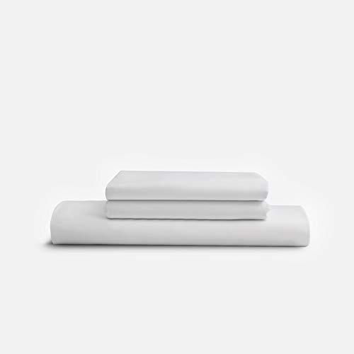 Sijo Premium 100% Austrian Eucalyptus Lyocell Tencel Sheet Set, Softer Than Silk, Moisture Wicking, Temperature Regulating, Cooling - 2 Pillowcases 1 Fitted (Snow, King - 3pc with No Flat Sheet)
