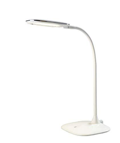 LED-Schreibtischlampe Tischleuchte Leselampe | Kunststoff | Gummi | Weiß | Touchfunktion | Dimmbar