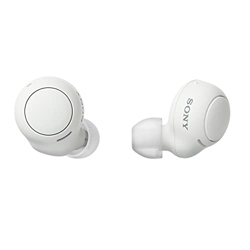 Sony WF-C500 Truly Wireless in-Ear Bluetooth Earbud Headphones with Mic and IPX4 Water Resistance, White (Amazon Exclusive) (Electronics)