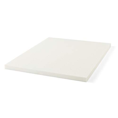 LUCID 3 Inch Ventilated Memory Foam Mattress Topper 3-Year Warranty - Queen