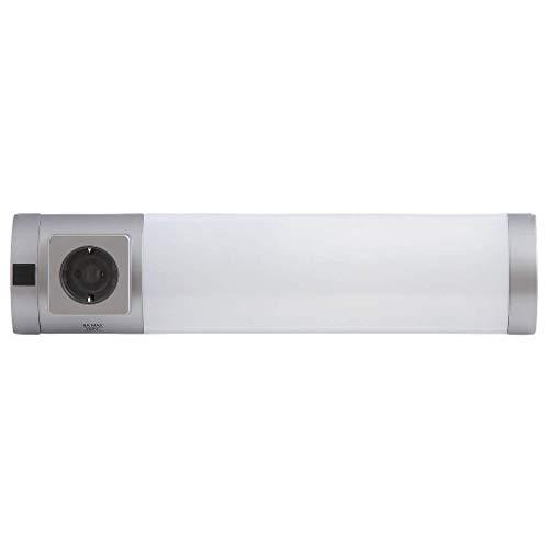 Rabalux 2326 Soft Wandleuchte mit Steckdose silber mit Schalter